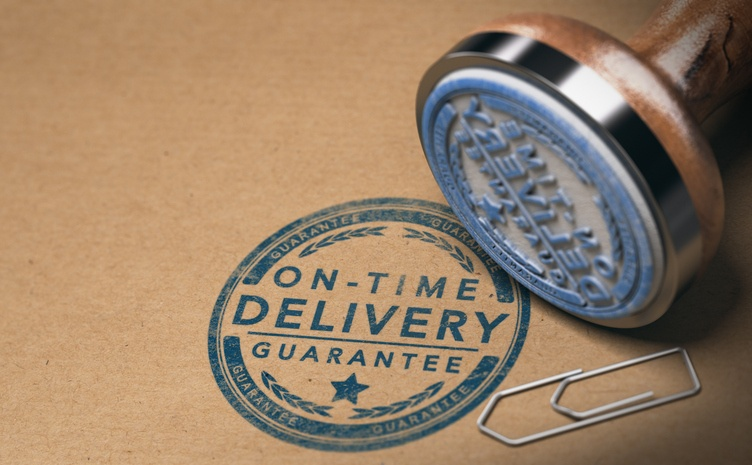 On-Time Delivery stamp